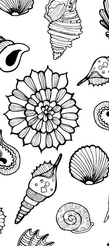 TenStickers. Under sea pattern glass door sticker. Decorative door vinyl decal for all door space in the home. It contains features of sea animals and can be customised to fit  any desired surface.
