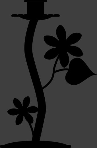 Sticker decoratie kandelaar bloemen