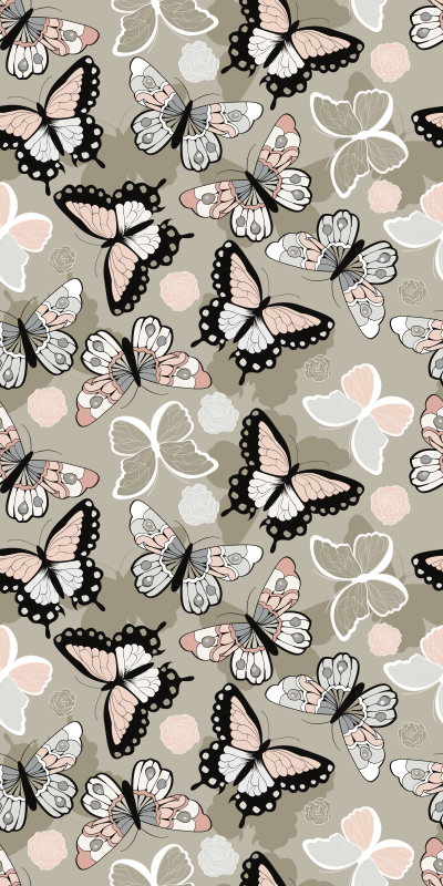 TenStickers. Window butterfly two window decal. Decorative window vinyl sticker design of multiple coloured butterflies to cover the whole surface of a window in the home.