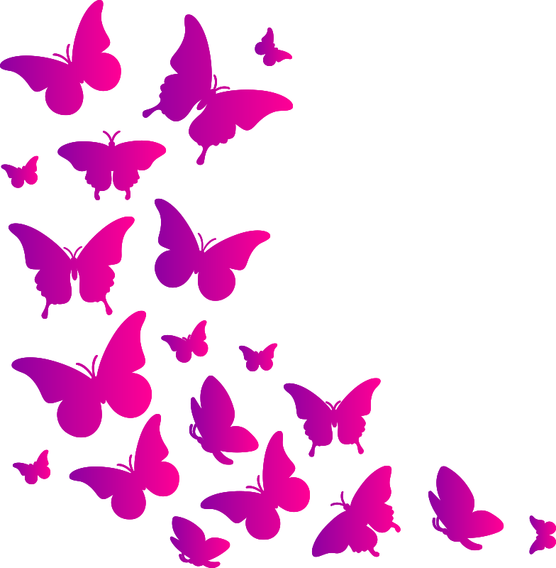 TenStickers. Butterfly butterfly decal. Doctorate the home space with this amazing butterfly sticker in colorful design. It can be applied in the manner you desire.