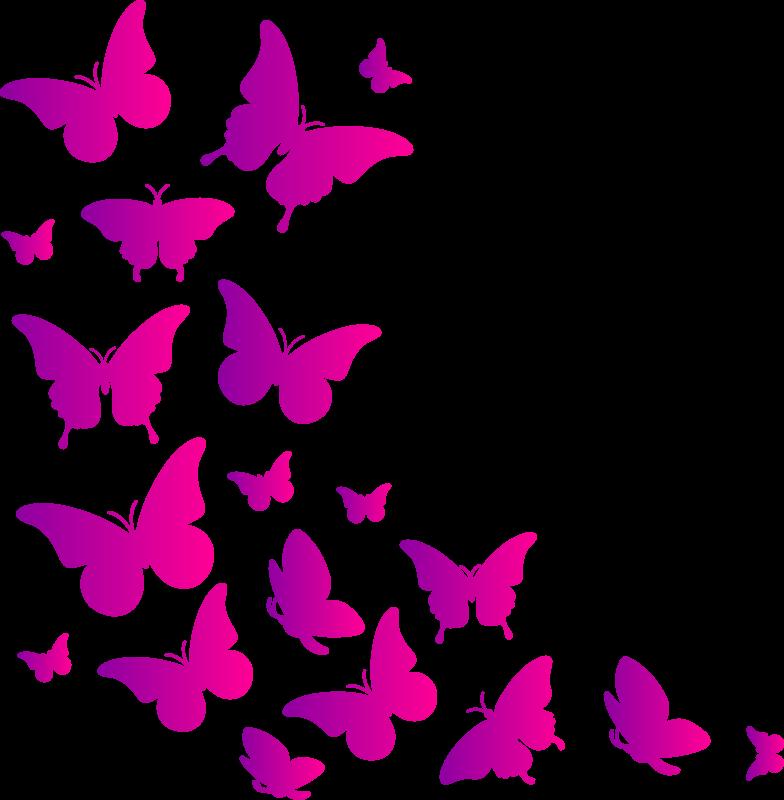 TenVinilo. Vinilo decorativo mariposas lilas. Decora el espacio del hogar con este increíble vinilo decorativo de mariposas lilas en un diseño colorido. Fácil de colocar.