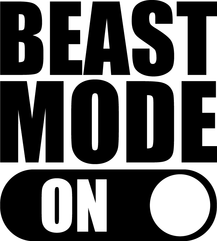 TENSTICKERS. ラップトップスキンの獣モード. 最高のモードのテキスト装飾が付いた装飾的なラップトップステッカー望ましいサイズを選択してください。