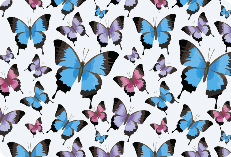 TenStickers. Blue and purple butterflies laptop skin. Buy our decorative laptop sticker with the design of Blue and purple butterflies to wrap the whole surface in the size of choice.