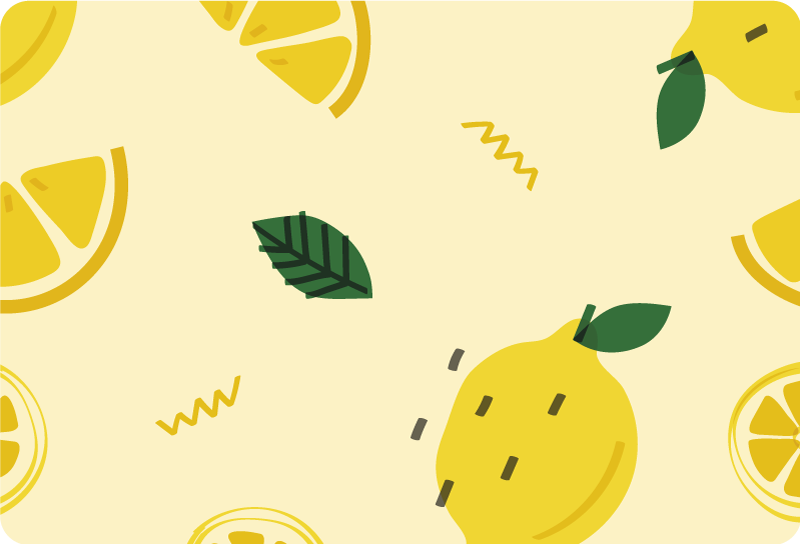 TenStickers. Lemons memphis style laptop skin. Decorative vinyl laptop sticker with the design of lemons in Memphis style. Buy it in the size recommendable to cover your laptop.