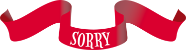 TenStickers. Sorry Ribbon Wall Sticker. A red ribbon wall sticker with the text 'sorry'. Great text decal to decorate your home and apologise to someone.