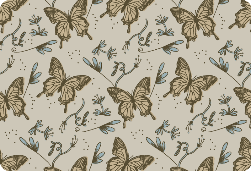 TenStickers. Vintage butterflies laptop skin. Vintage butterflies laptop sticker to  to wrap it whole surface to create a beautiful decorative touch on it. Buy it in the ideal size for it.