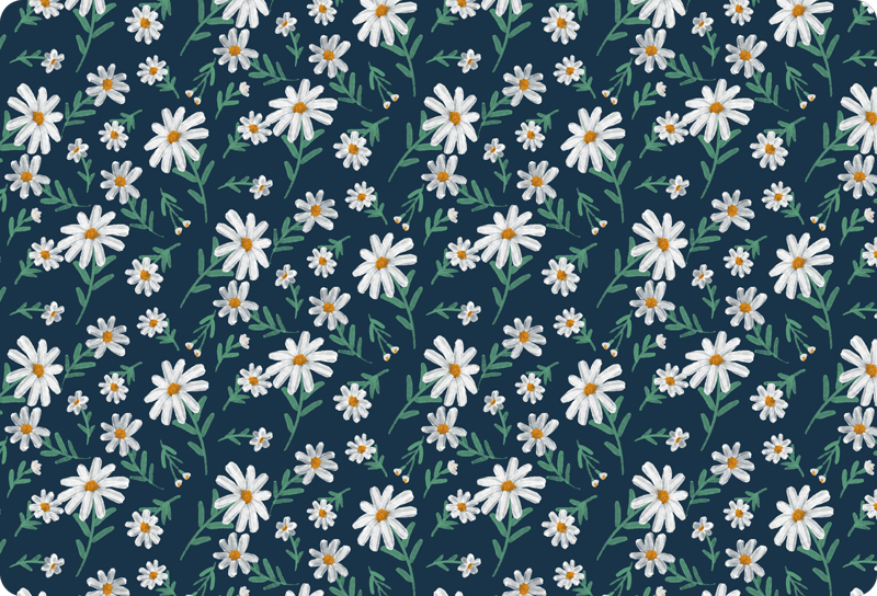 TenStickers. 70's Daisy flower laptop skin. Colorful daisy flower laptop vinyl sticker with lovely background. Choose the size perfect for your laptop and it application is very simple.