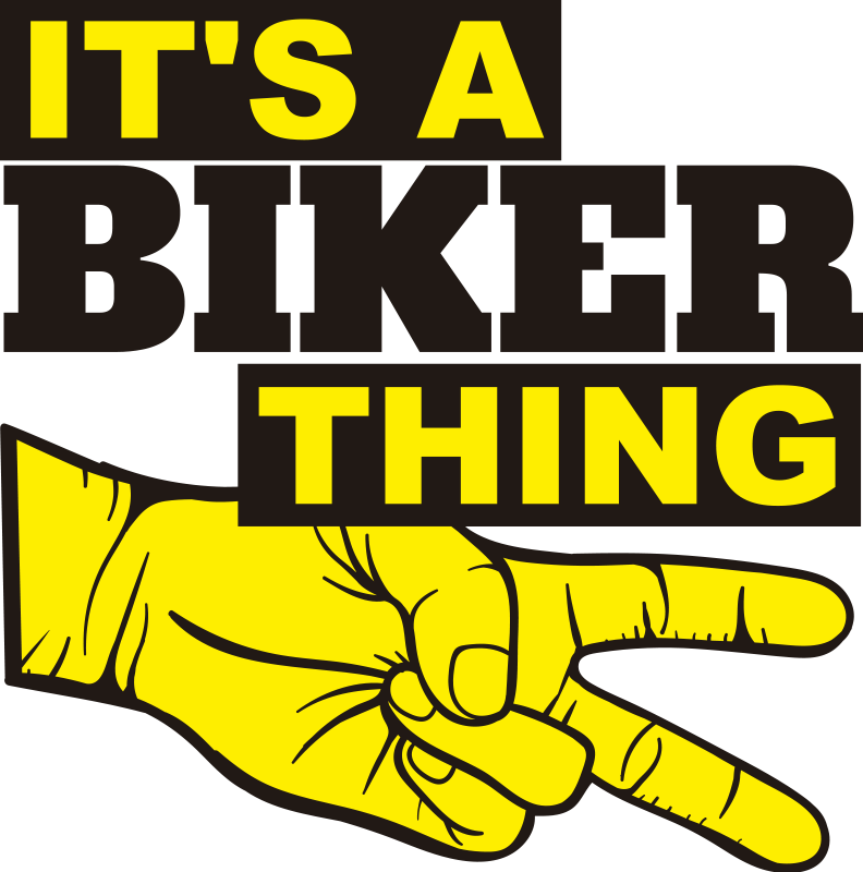 TenStickers. Biker things Motorcycle stickers. A biker's motorcycle sticker decoration for bike sports enthusiast . It has the text that says ''  it's a biker thing''.  Easy to apply.