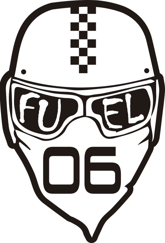 TenStickers. Fuel Helment Motorcycle stickers. Decorative sport helmet vinyl sticker with an inscription on it that says ''  fuel'' Buy it in the size that is suitable for you.