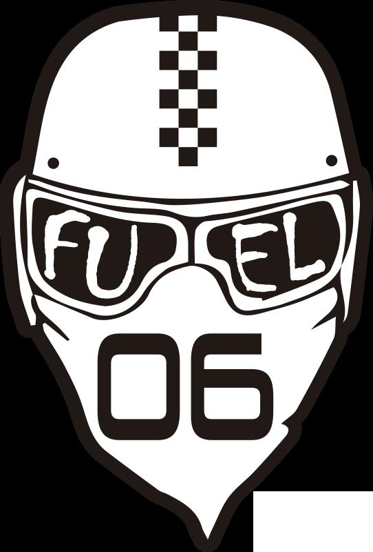 """TenVinilo. Pegatina para moto de carreras con número. Vinilo adhesivo para casco deportivo con una inscripción que dice """"combustible"""". Cómprelo en el tamaño adecuado para usted"""