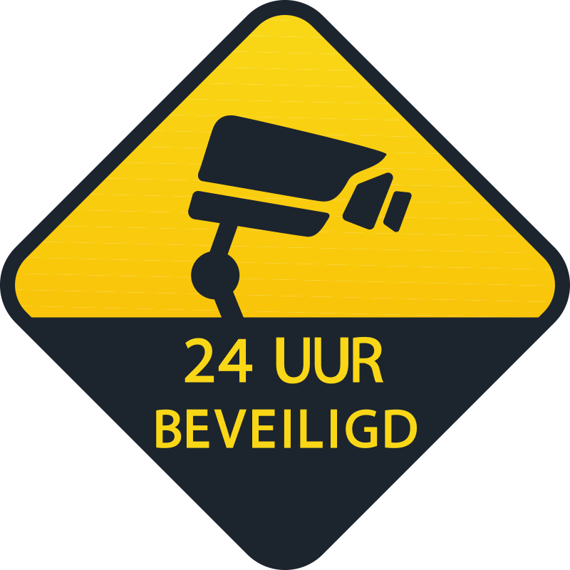 TenStickers. 24 uur bewaking teken zelfklevende sticker. Bewakingscamera teken vinyl zelfklevende sticker voor woningen, kantoren en openbare ruimte. Kies het in elke maat die de voorkeur heeft voor een gewenste ruimte.