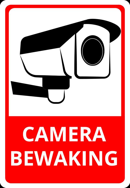TenStickers. Camerabewaking rode en zwarte bord zelfklevende sticker. Beveiliging bewakingscamera vinyl teken zelfklevende sticker voor woningen en openbare plaatsen. Verkrijgbaar in verschillende maten en gemakkelijk aan te brengen.