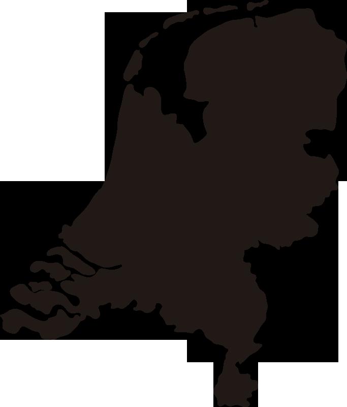 TenStickers. Het silhouet van nederland. Nederland wandkaart silhouet zelfklevende sticker om elk vlak oppervlak in huis en kantoor te versieren. Het is verkrijgbaar in verschillende kleur- en maatopties.