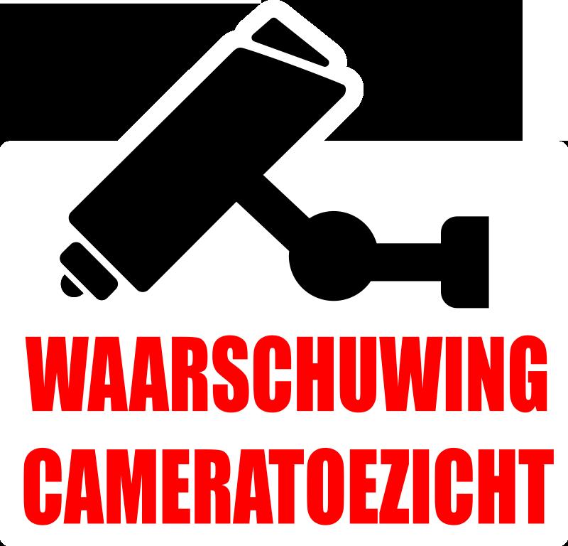 TenStickers. Waarschuwing- camerabewaking teken zelfklevende sticker. Waarschuwing camerabewaking vinyl zelfklevende sticker om op een vlakke ondergrond aan te brengen om mensen te waarschuwen dat er een beveiligingsmonitor in de buurt is.