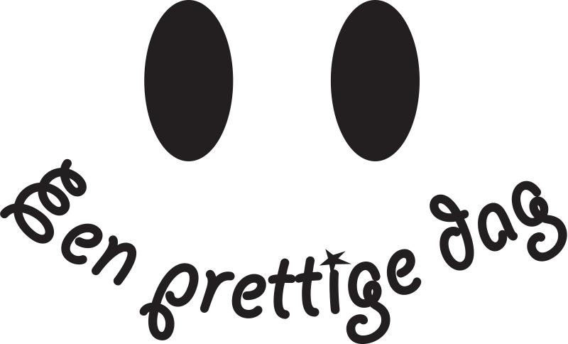TenStickers. Een prettige dag muurtekst zelfklevende sticker. Decoratieve huismuur tekst zelfklevende sticker met een vrolijke motivatie tekst. Verkrijgbaar in verschillende kleur- en maatopties. Eenvoudig aan te brengen.
