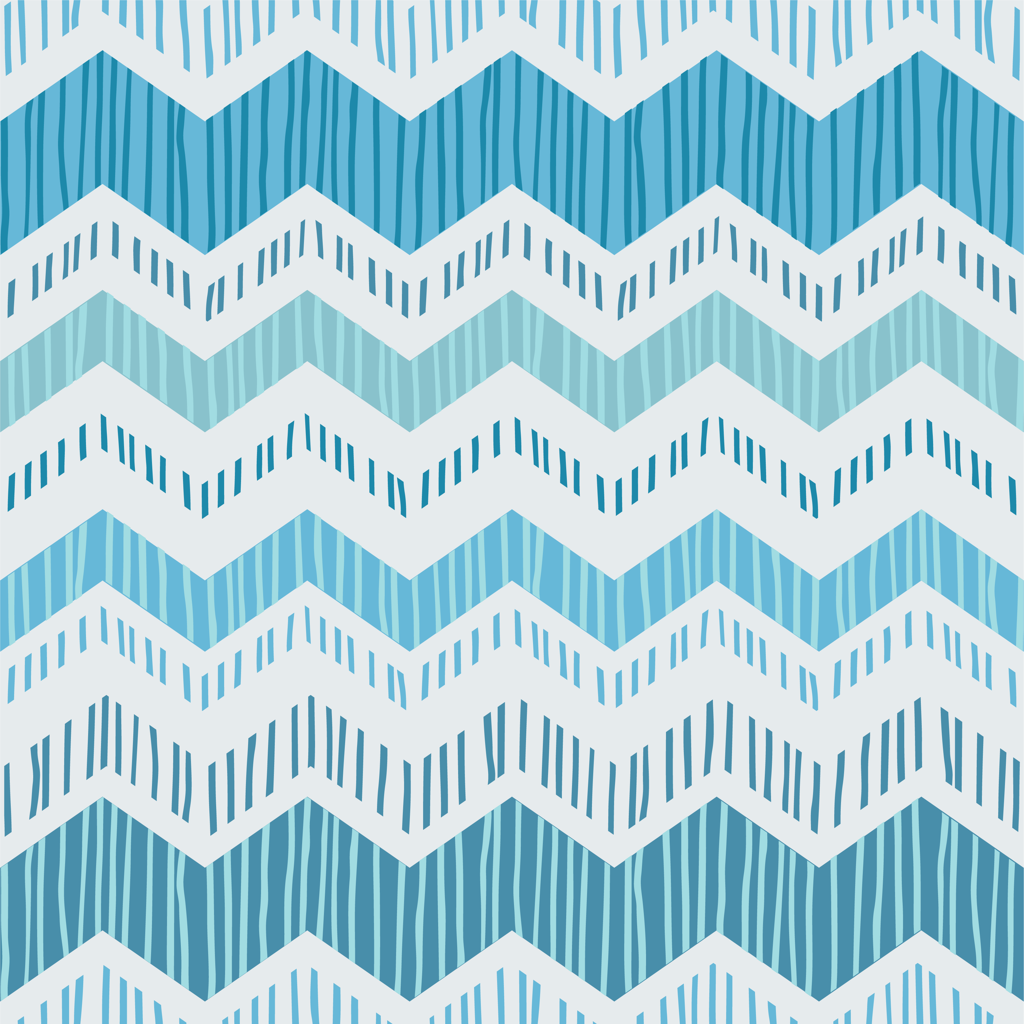 Tenstickers. Sininen siksak-huonekalutarra. Koristeellinen sininen siksak-mallihuonekalutarra peittämään sen pinta tyylikkäällä kauneudella. Valitsi haluamasi tilan ihanteellisen koon.
