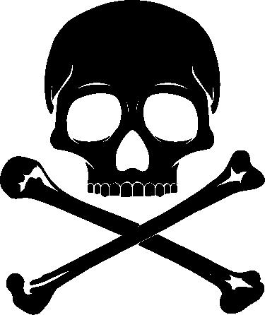 TenVinilo. Vinilo decorativo calavera. Un vinilo decorativo que demuestra que no hace falta ser un pirata para personalizar tus vehículos o tu casa con estos motivos.