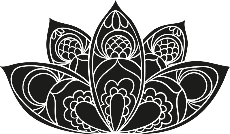 TenStickers. Lotus flower mandala  floral wall decal. Lotus flower mandala wall sticker design for home and office space decoration. It is available in different size and colour options.
