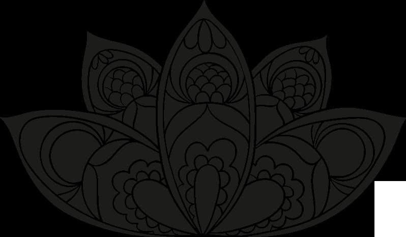 TENSTICKERS. 蓮の花曼荼羅花壁デカール. 蓮の花曼荼羅壁ステッカーデザインの家およびオフィススペースの装飾。さまざまなサイズと色のオプションが用意されています。