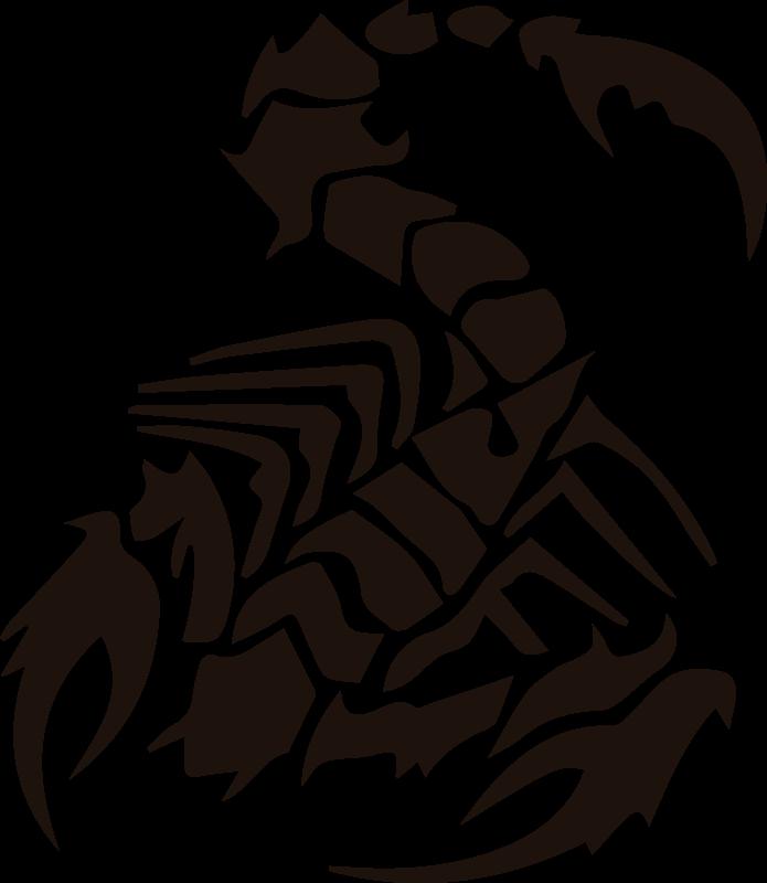 TenStickers. Gefährlicher Skorpion Auto Aufkleber. Dekorativer Auto Aufkleber mit dem Design eines Skorpions. Es ist in verschiedenen Farben und Größen erhältlich. Einfach anzuwenden.