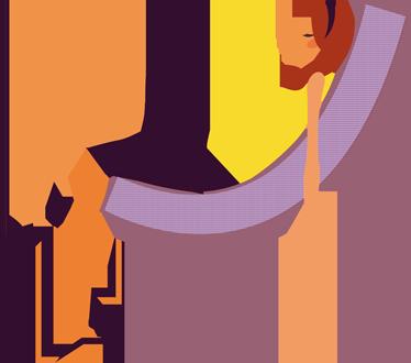 TENSTICKERS. ソファの壁のステッカーでリラックスした女の子. ソファで眠っている若い女性を示す装飾的なビニール製の壁のステッカー。