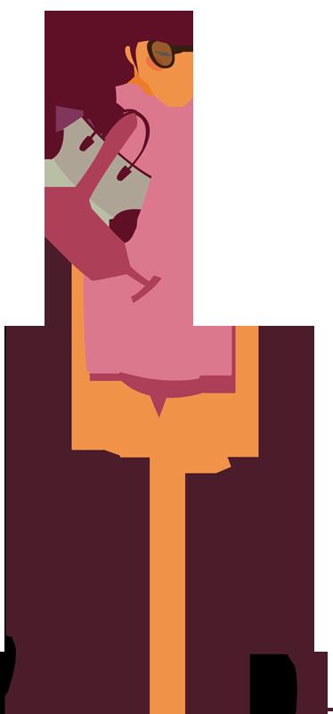 TenStickers. Mode Bewuste Dame Muursticker. Een nieuw ontwerp van een elegante vrouw met modieuze kleding als muursticker! Verkrijgbaar in verschillende afmetingen. Voordelig personaliseren.