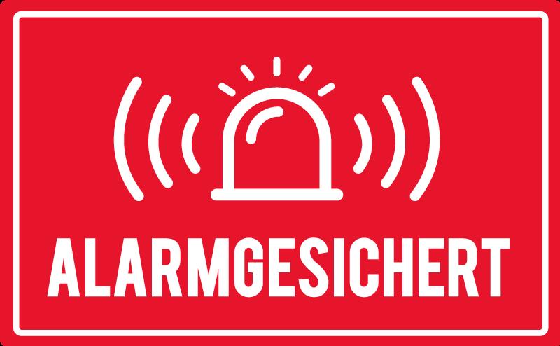 TenStickers. Alarm Glocke Schildaufkleber. Ein ikonischer Alarm-Glocken Aufkleber zum Anbringen an Tür- und Wandflächen in Unternehmen, Werkstätten und Fabriken für Notfälle. Einfach anzuwenden.