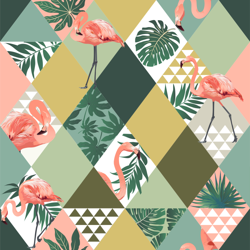 TenStickers. Tropical jungle furniture decal. Tropical jungle furniture decal designed in multicolour style . Beautiful and ideal decoration for all furniture surface in the home.