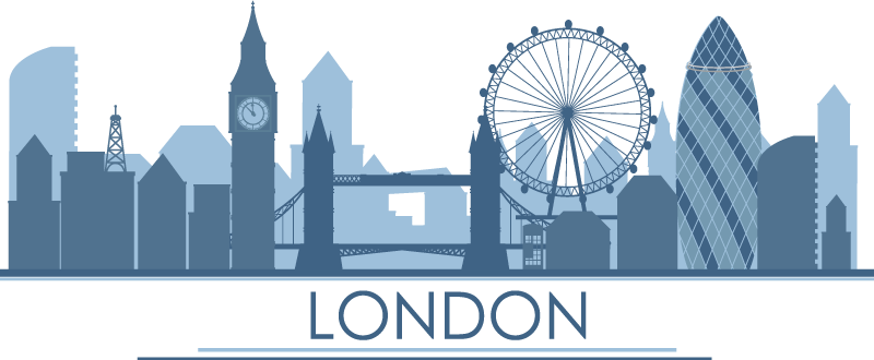 TenStickers. Characteristic buildings of London london wall sticker. London city wall sticker to decorate the home and business place .Easy to apply and available in different sizes. Self adhesive and durable.