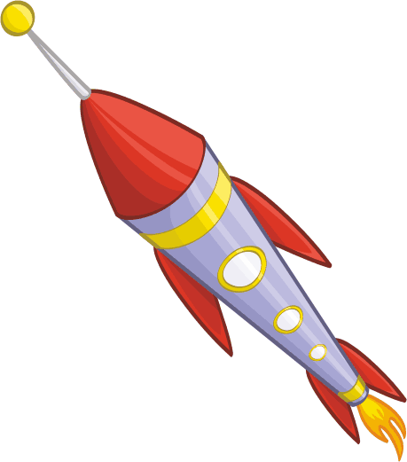 TenStickers. Kids Stickers Coloured Space Ship. Wall stickers for kids - Colourful design of a rocket ship launching into space. Use this colourful cartoon wall sticker to brighten up your child's bedroom and make them feel at home, part of our space wall stickers collection.