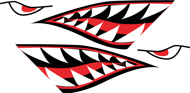 TenStickers. Shark face sharp teeth Bike Decal. Shark face sharp teeth bike sticker to decorate a bicycle surface. It is easy to apply as it is self adhesive and available in any required size.