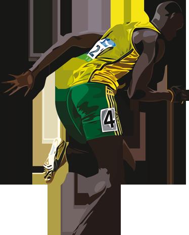 TenStickers. Sticker Usain Bolt. Personnalisez la chambre de votre enfant avec le sticker d'Usain Bolt, l'athlète jamaïcain le plus rapide abonné aux records mondiaux.