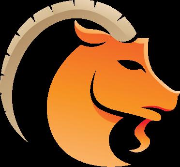 TenStickers. Sticker decorativo zodiaco Capricorno. Adesivo murale che raffigura il segno zodiacale del Capricorno simboleggiato da un caprone. Dedicato a tutti i nati tra il 22 dicembre e il 20 gennaio.