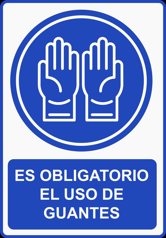 TenVinilo. Vinilo puerta guantes obligatorios. Vinilo advertencia para ventana de señalización decorativa para colocar en lugares de negocios públicos y fábricas para instruir a las personas