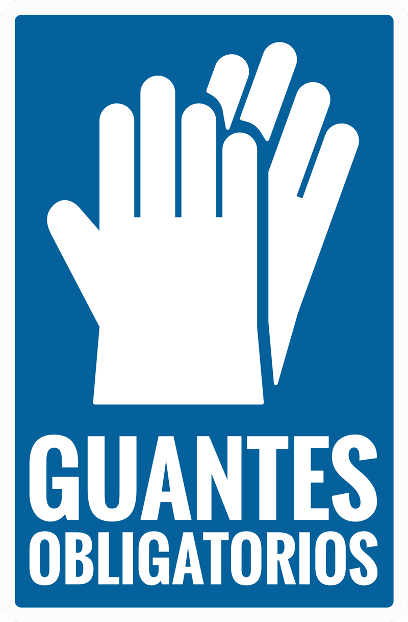 TenVinilo. Vinilo advertencia uso guantes obligatorios. Vinilo para ventana de señalización de guantes de mano para colocar en lugares de negocios públicos y fábricas para instruir a las personas