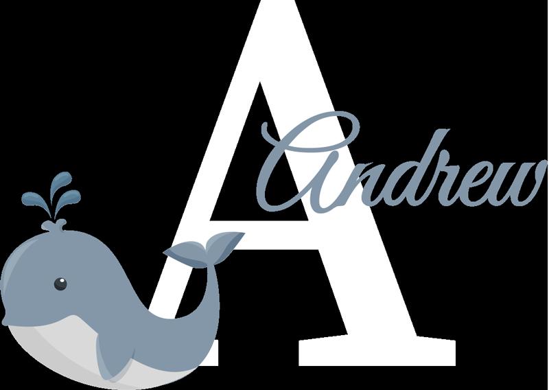 TenStickers. Tilpasses navn med hval personaliseret mærkat. Baby vægklistermærke designet med en sød fisk til at dekorere soveværelset plads til børn. Det kan tilpasses med ethvert navn, du vælger.