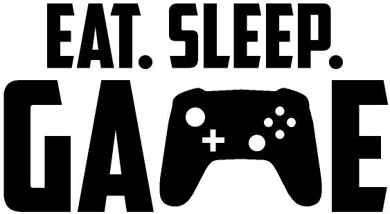 TENSTICKERS. 少年ゲーマーは睡眠とゲームビデオゲームのステッカーを食べる. 装飾的な十代の若者たちのビデオゲームのウォールステッカー。デザインはテキストで作成されます ''食べる、寝る、ゲーム、ゲーム機の画像。どのサイズでもご利用いただけます。