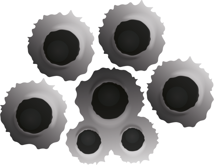 TENSTICKERS. 射撃効果車デカール. すべての車両の射撃効果車のステッカーの装飾。実際の視覚効果の外観で作成され、必要なサイズになっています。