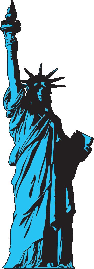 TENSTICKERS. 自由の女神ウォールステッカー. 巨大な新古典主義の彫刻のデザインが描かれた壁ステッカー。ニューヨークの自由の島にある自由の女神。
