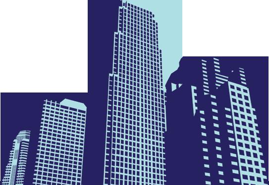 TENSTICKERS. 高層ビルの壁のステッカー. ウォールステッカー-都市の高層ビルのイラスト。どんな部屋にも都会的な雰囲気を加えるのに最適です。