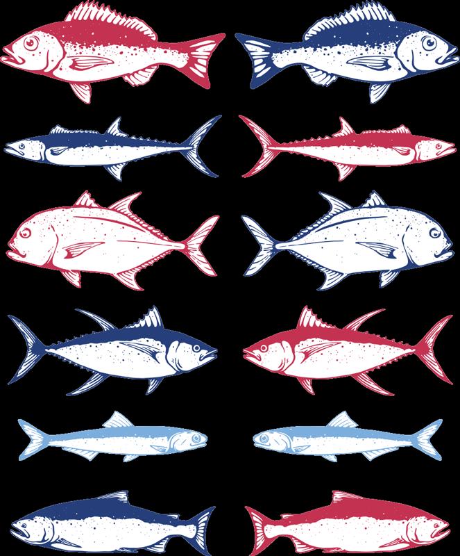 TenVinilo. Vinilos decorativos lámina de peces dibujados. Compre nuestro vinilo animales de peces peces marinos para decorar cualquier estancia de su casa con un diseño original ¡Envío a domicilio!