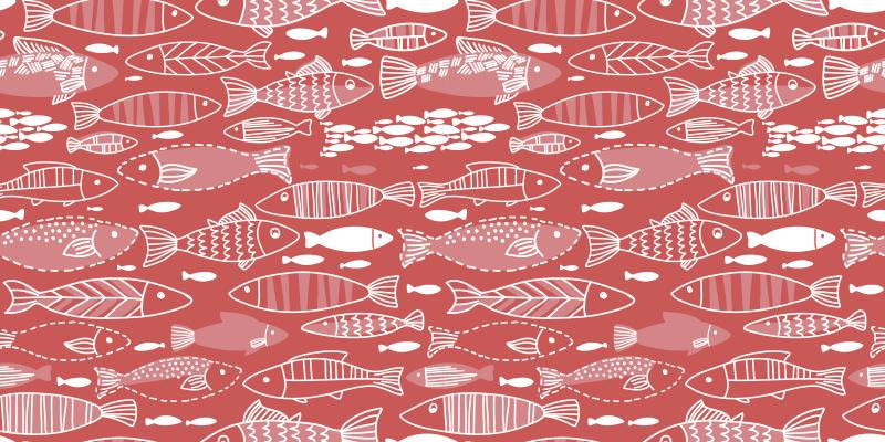 TENSTICKERS. 海中のたくさんの魚(家具)の家具ステッカー. このオリジナルの魚用デカールで家具スペースを飾ります。それは高品質のビニールで作られ、簡単に適用できます。