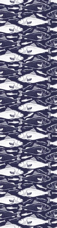 TenVinilo. Vinilo neveras peces bajo el mar. Vinilo para frigoríficos o refrigeradores con peces nadando bajo el mar con el que podrás cambiar su apariencia ¡Envío a domicilio!