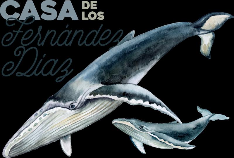 TenVinilo. Vinilo personalizable con apellido familiar y ballena. Personaliza los apellidos de tu familia en este vinilo pez con ballena que podréis poner en la estancia de casa que prefieras ¡Envío a domicilio!