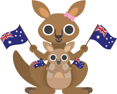 TenStickers. Kids Kangaroo Wall Sticker. Kids Wall Stickers - Playful illustration of a kangaroo. Colourful design ideal for decorating areas for kids. Available in various sizes.