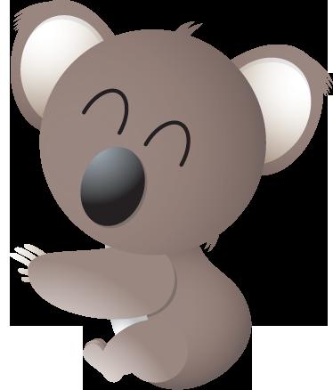 TenStickers. Adesivo bambini koala coccolone. Sticker decorativo che raffigura un dolce koala dall'aria molto affettuosa. Ideale per decorare la cameretta dei bambini.