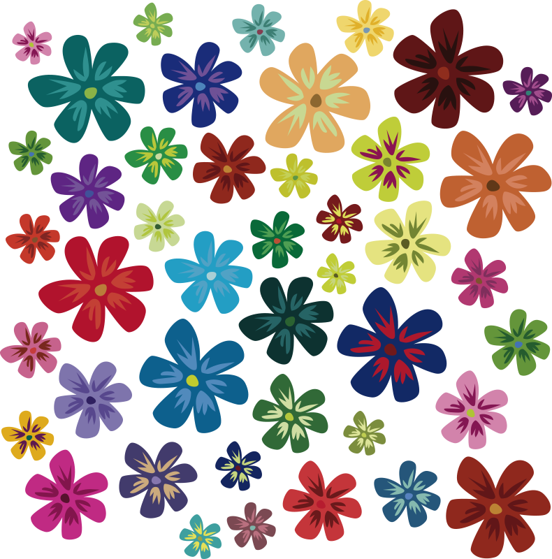TENSTICKERS. 色の花アートプリント花壁デカール. 色とりどりの花柄プリントのステッカーで、子供の寝室の素敵な雰囲気を作りましょう。適用が簡単で、高品質のビニール製です。