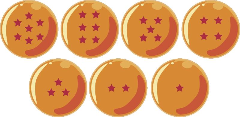 TENSTICKERS. 7つの魔法のボール漫画壁デカール. マジックボールのオリジナルのウォールステッカーデザインで子供の寝室を飾ります。適用は簡単で、さまざまなサイズで利用できます。