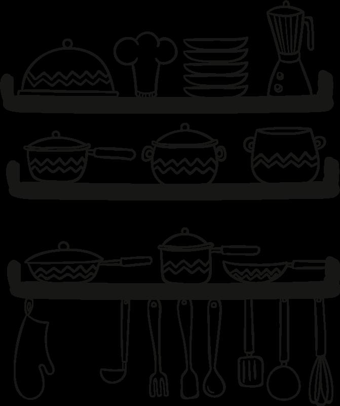 TENSTICKERS. 調理器具カトラリーデカール. オリジナルのウォールステッカーデザインでキッチンを飾りましょう。さまざまな色とサイズのオプションがあります。簡単に適用できます。