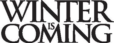 TenVinilo. Vinilo decorativo winter coming. Adhesivo con el lema principal de Juego de Tronos, de George R R Martin. En inglés. El invierno está llegando. Para los fans de la serie. Un adhesivo decorativo de programas TV
